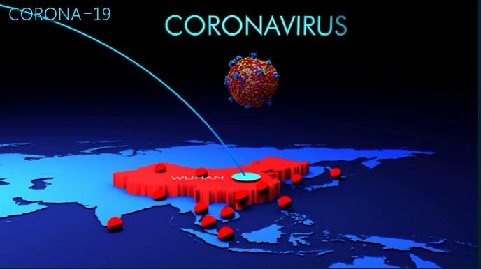 Coronavirus Video Tampilan Digital (16:9) template