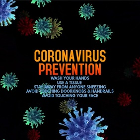 Coronavirus Video Template Instagram Post