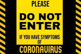 Coronavirus Warning Poster Template