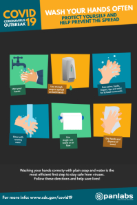 Coronavirus wash hands prevention poster