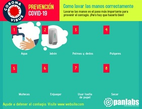 Coronavirus Wash Hands Prevention Video flyer