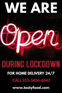 Coronavirus We Are Open Lockdown Template