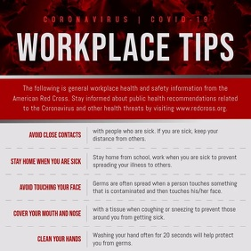 Coronavirus Workplace Tips Square Video