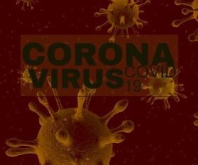 Coronavius covid- 19 template Retângulo grande