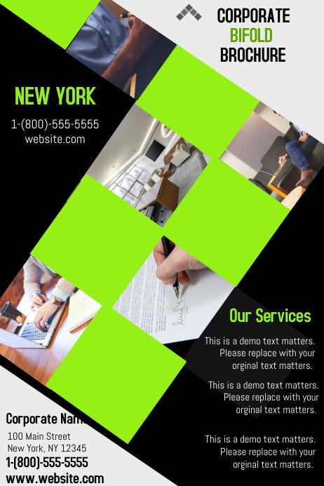 corpate bifold brochure template postermywall