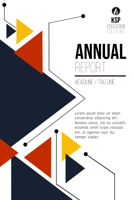 Corporate Annual Report / Book Cover Poster template