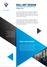 Corporate Banner design template A4