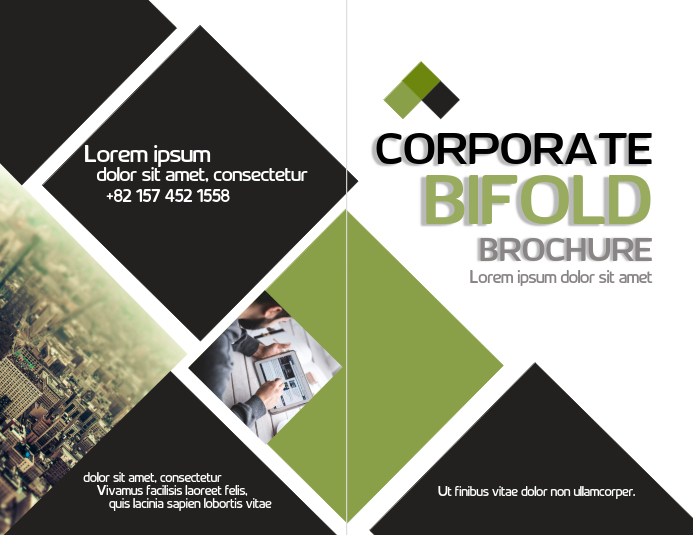 corporate bifold template postermywall