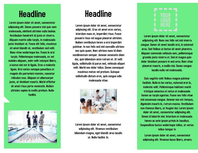 Corporate Brochure Inside Flyer (US Letter) template