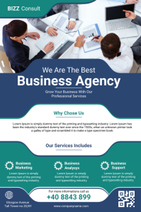 Corporate Business Agency Flyer Póster template