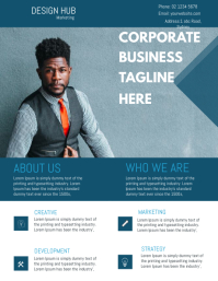 Corporate business agent flyer template design