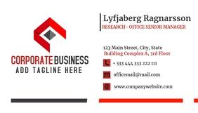 corporate business card design template Visitenkarte