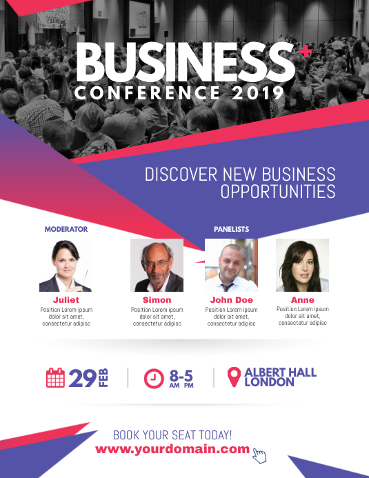 Corporate Business Conference Poster Flyer 传单(美国信函) template