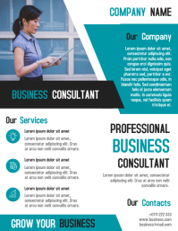 Corporate business consultant flyer template design