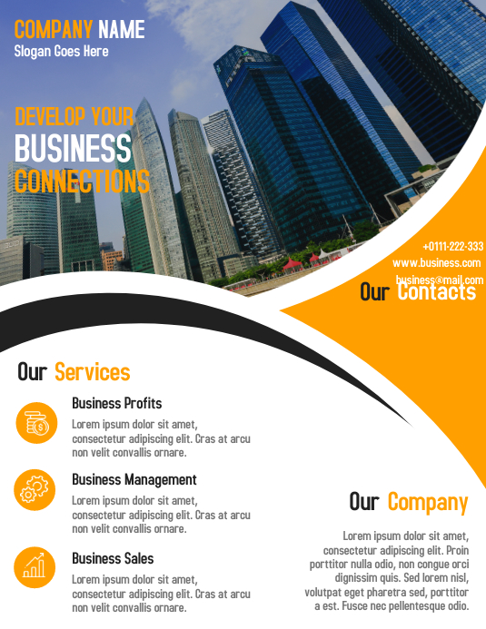Corporate business flyer and poster design template