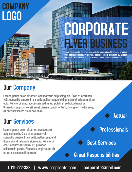 Corporate business flyer and poster template