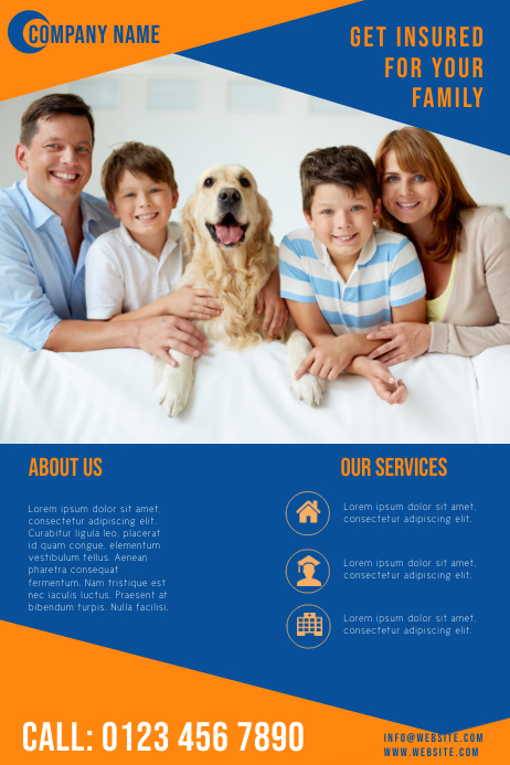 corporate business flyer for insurance company