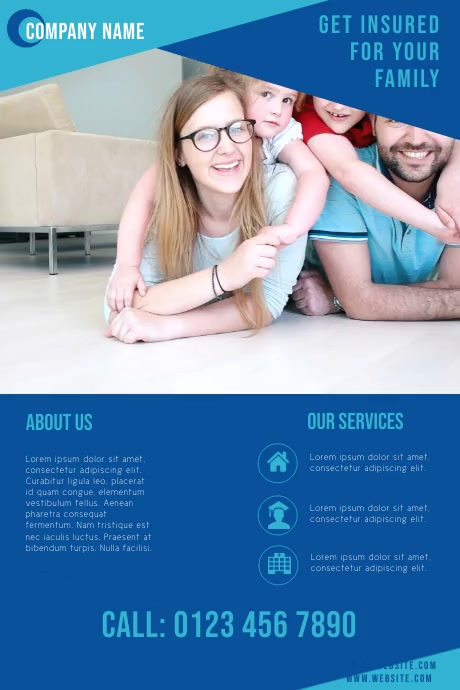 corporate business flyer for insurance company Plakkaat template
