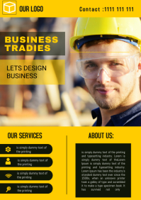 corporate business flyer template, BUSINESS SERVICESS