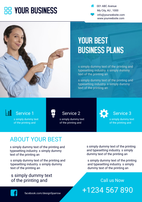 Corporate Business Flyer Template Postermywall