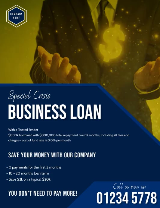 corporate business flyer template Pamflet (VSA Brief)