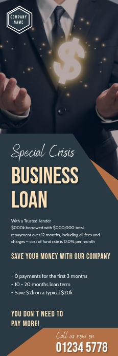 corporate business flyer template Banner 2 x 6
