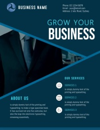 corporate business flyer template Pamflet (Letter AS)