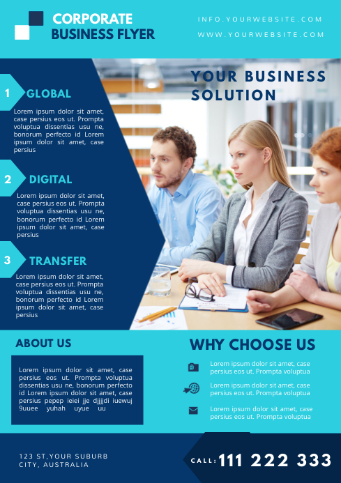 Corporate business flyer template VIDEO