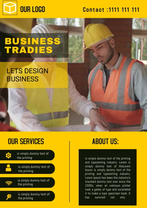 corporate business flyer video template