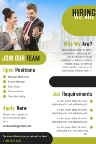 Corporate Business Hiring Poster and Flyer Design Template