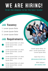 Corporate business job vacancy poster design template