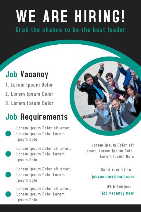 Corporate business job vacancy poster design template