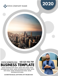 CORPORATE BUSINESS Template Folheto (US Letter)