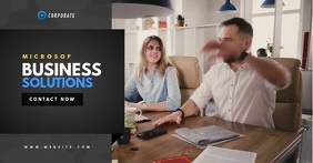 Corporate Business Video Template Facebook Shared Image
