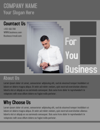 Corporate bussiness flyer template design