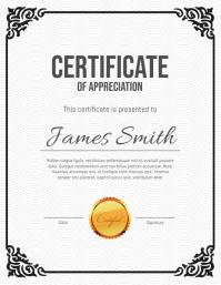 Corporate Certificate Volantino (US Letter) template