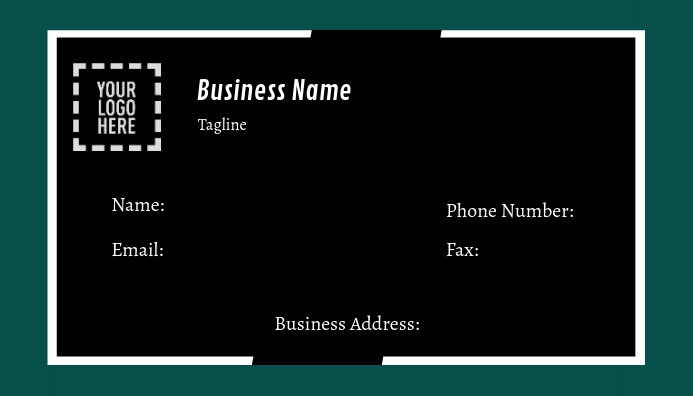 Corporate Contact Business Card Template Postermywall