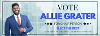 Corporate Election Chairman Vote Banner Portada de Facebook template