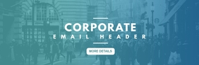 corporate email header E-mail-overskrift template