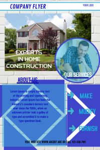 corporate flyer,CONSTRUCTION COMPANY FLYER,POSTER