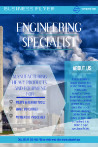 corporate flyer,heavy industry flyer,small business poster