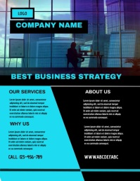 corporate flyer,small business flyer Folheto (US Letter) template