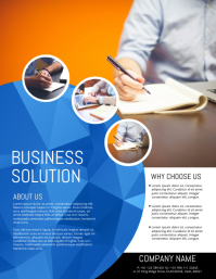 Small business flyer templates postermywall corporate flyer template flashek Image collections