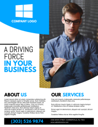 Customize 11910 small business flyer templates postermywall corporate flyer multipurpose business minimalist flyer template fbccfo Choice Image