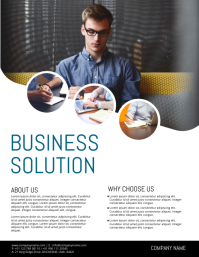 Customizable design templates for business solution postermywall corporate flyer template business conference flyer accmission