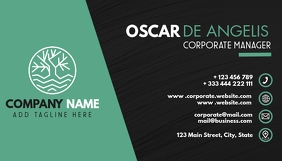 corporate green and black business card desig Visitenkarte template