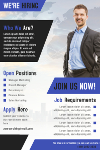 Corporate Hiring Poster and Flyer Design Template