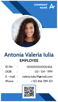 corporate id card template