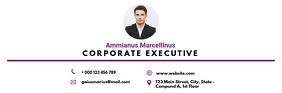 Corporate modern minimal email digital signat template