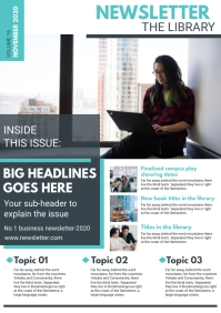 Corporate Newsletter Magazine Page Template A4